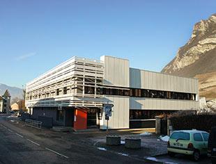 Les nouveaux locaux de Pôle Emploi à Montmélian après restructuration par l'agence Fabienne Gros