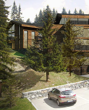 Construction de 4 chalets à Courchevel au Jardin Alpin - Chalet contemporain – Chalet de luxe – Courchevel – Jardin alpin